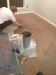 Laying wood floors -- consider how even the foundation is.  Use self-leveling cement.