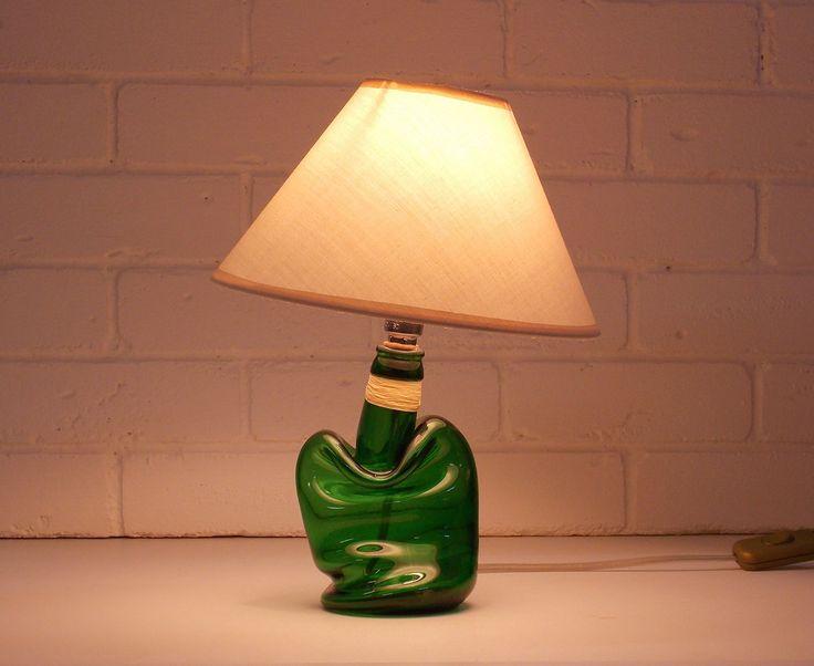 Industrial lamp- lamp office-lamp-bottle lamp-Lighting-bottle lamp -desk lamp-lamp beige shade-industrial lighting-Home & Living-decor by BottlesAndOthers on Etsy