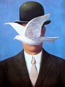 Rene Magritte L'Homme AU Chapeau Melon 1964 Belgium Art Surrealist ...
