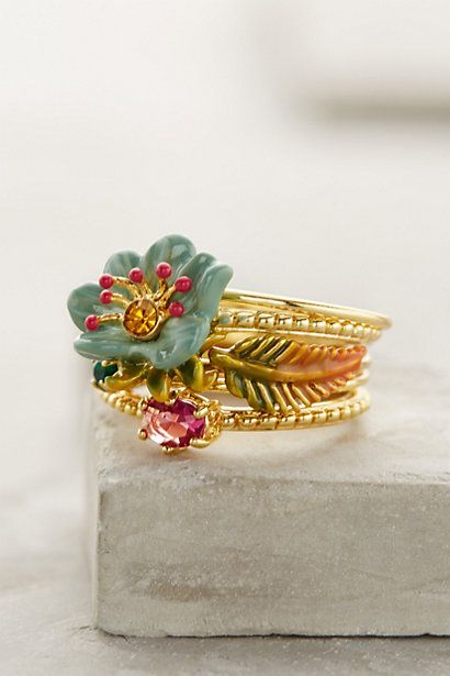 The new jewelry is amazing! Stack rings. #anthrofave #anthropologie