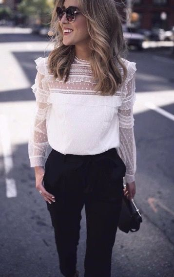 Nice 50+ Comfy Blouse And Pants Work Outfits Ideas