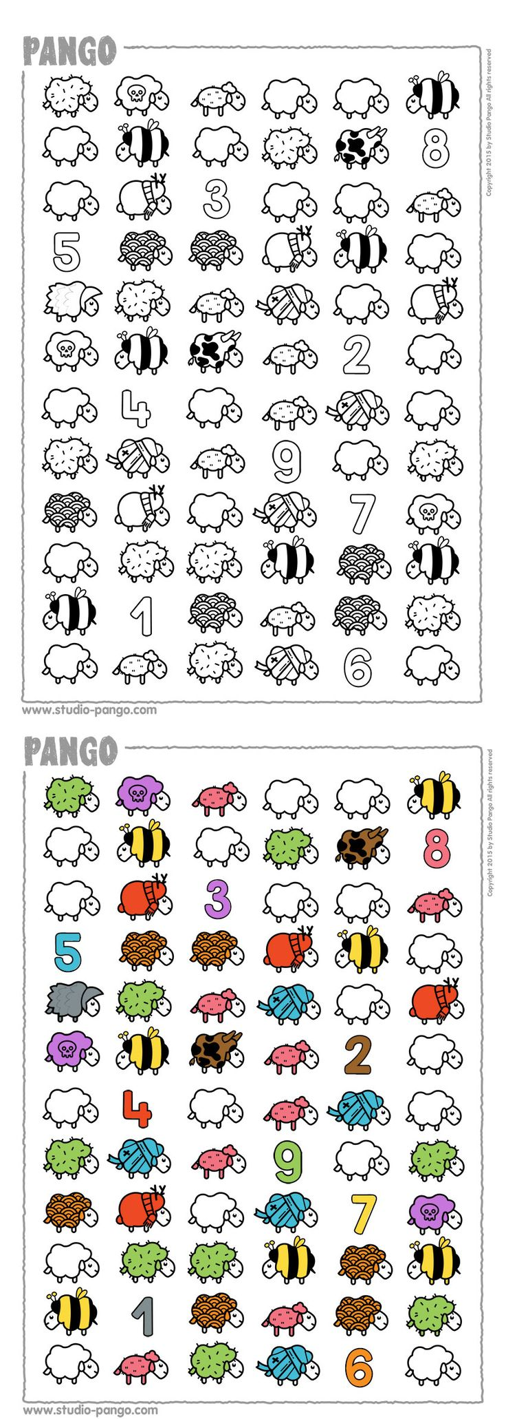 How many sheeps are identical ? #counting #coloring