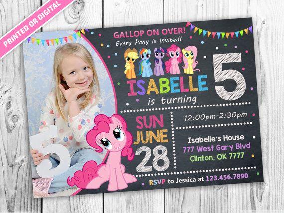 Mon petit poney anniversaire Invitations de par PawtyPrintables