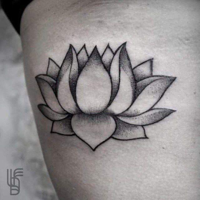 Simply Lotus Flower tattoo