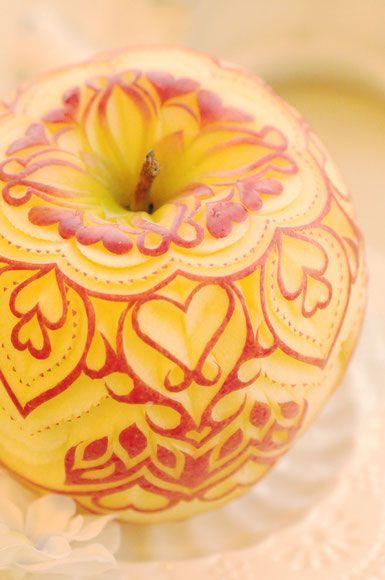 Carved apple