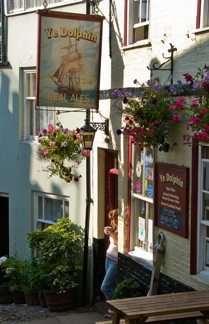 Dolphin Pub in Robin Hood's Bay, North Yorkshire, England - very old but great atmosphere