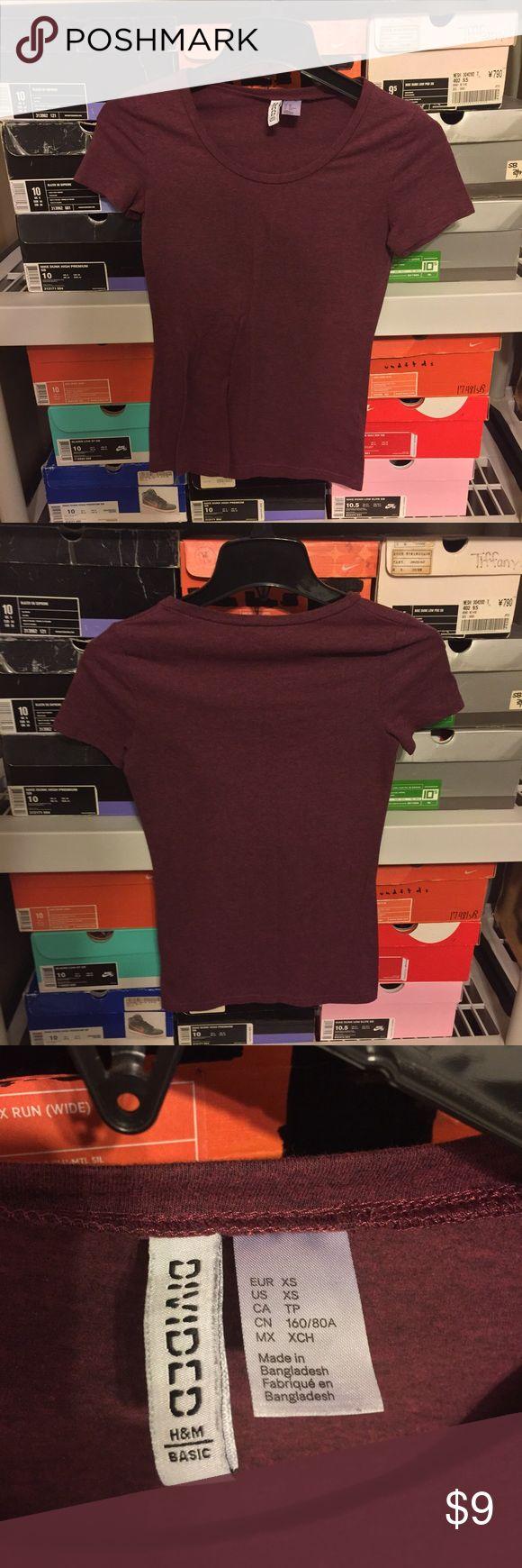 Women's H&M basic t Shirt Purple size Small Women's H&M Purple Basic T shirt   Size XS  Good condition has slight fading! H&M Tops Tees - Short Sleeve