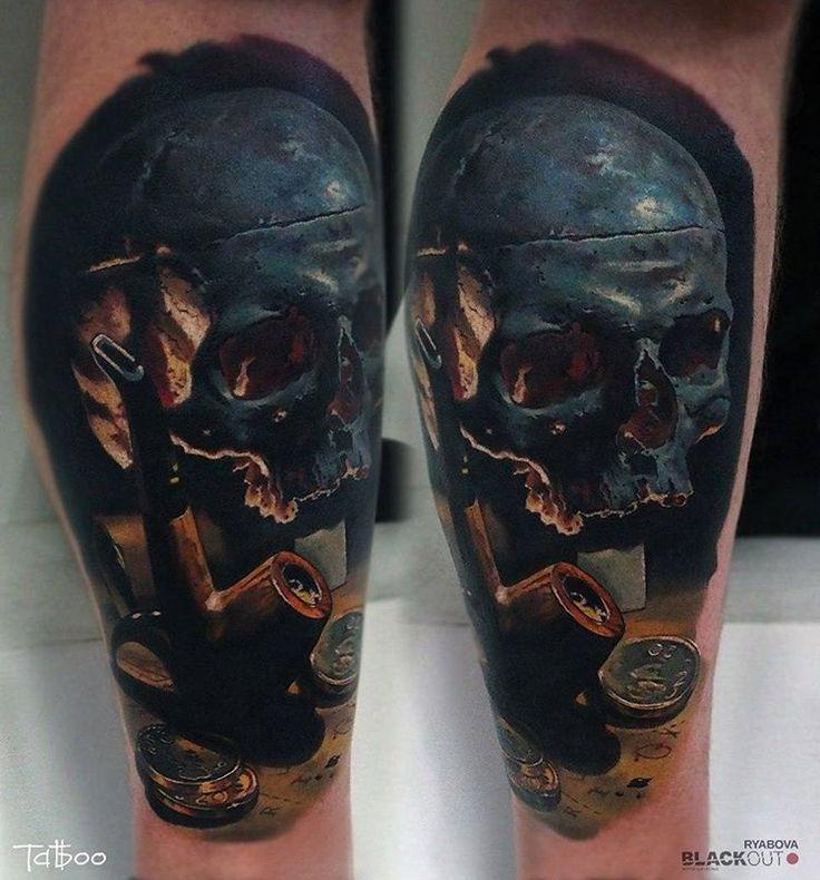 Skull is healed Valentina Ryabova @val_tatboo BLACKOUT tattoo collective @blackouttattoocollective #blackouttattoocollective