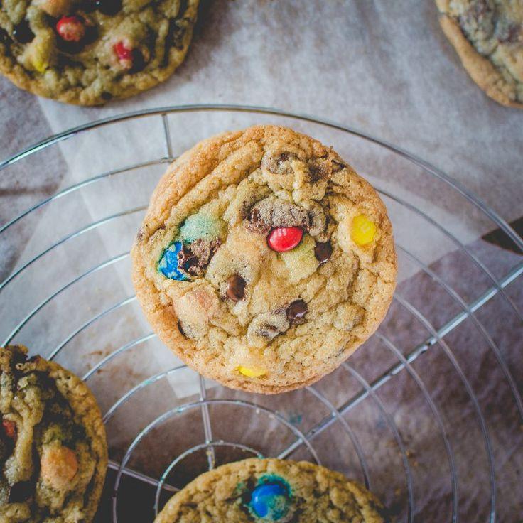 Rainbow Cookies: Cookies mit M&Ms wie bei Subway | Rezept ...
