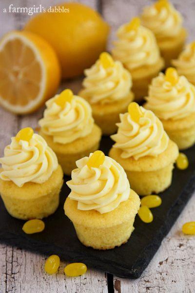 Triple Lemon Baby Cakes with Lemon Pudding Cream - afarmgirlsdabbles.com