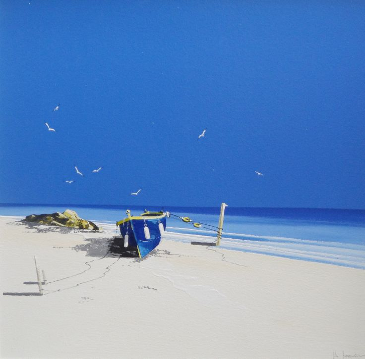 Beach Original painting by John Horsewell now available at www.imagesinframes.com