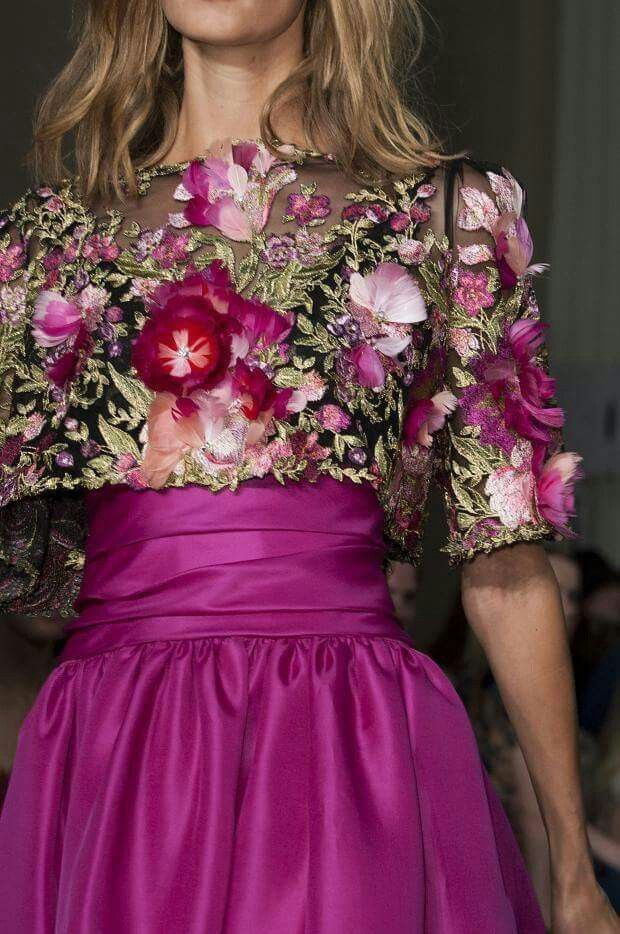 Vestido flores color