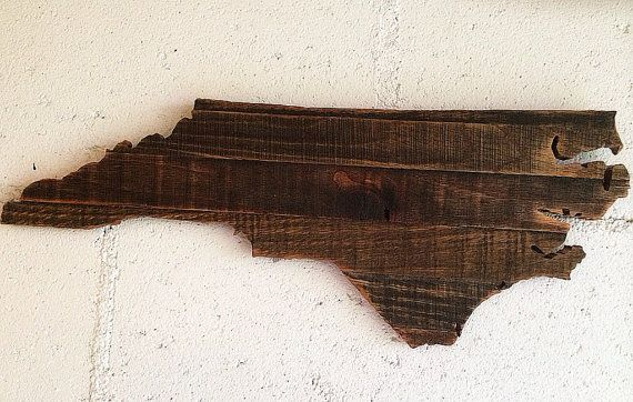 North Carolina NC state cutout outline pallet wood by ChadDowdell, $45.00