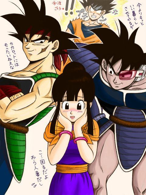 Goku celoso de bardock y turles sorry but i find this - Goku e bulma a letto ...
