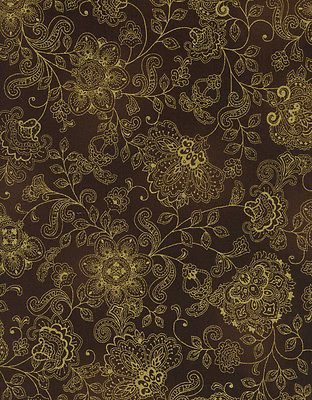 Fabric-Bronze-Shimmer-by-Timeless-Treasures-Pashmina-Allover-Floral-Brown