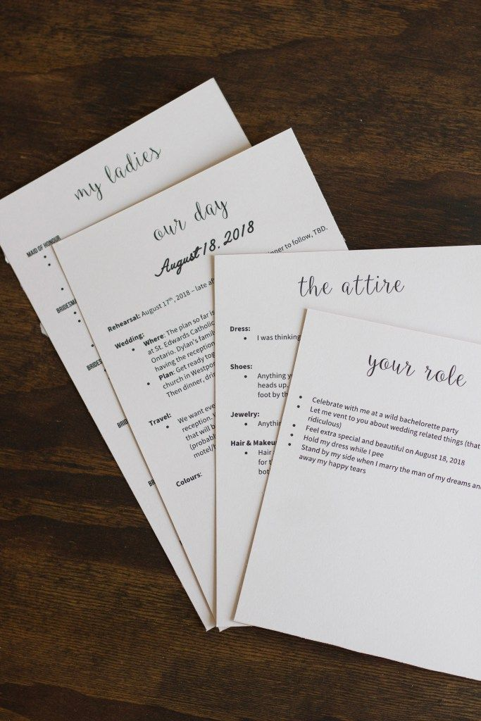 Bridesmaid Proposal Info Cards With Images Bridesmaid Proposal