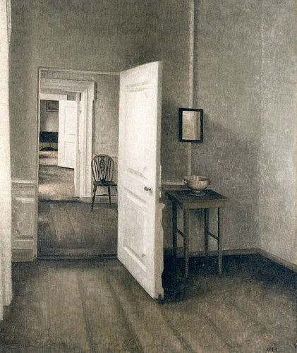 1914 The four rooms - hammershoi