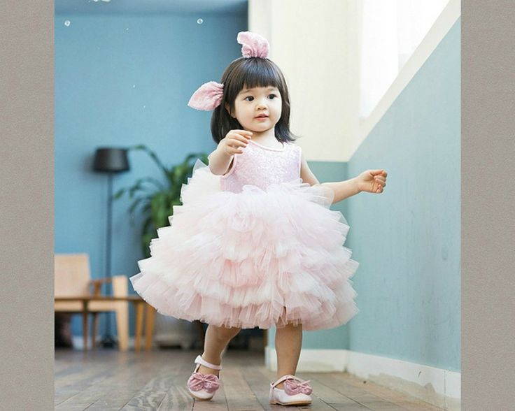 Pink Ruffle Sequin Tutu Dress. Available from 0 - 15 Years. Material: Sequin, cotton, soft tulle mesh. Color: Pink