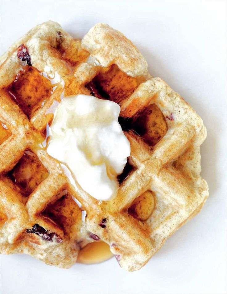 Multigrain apple & cranberry waffles from Grains | Cooked