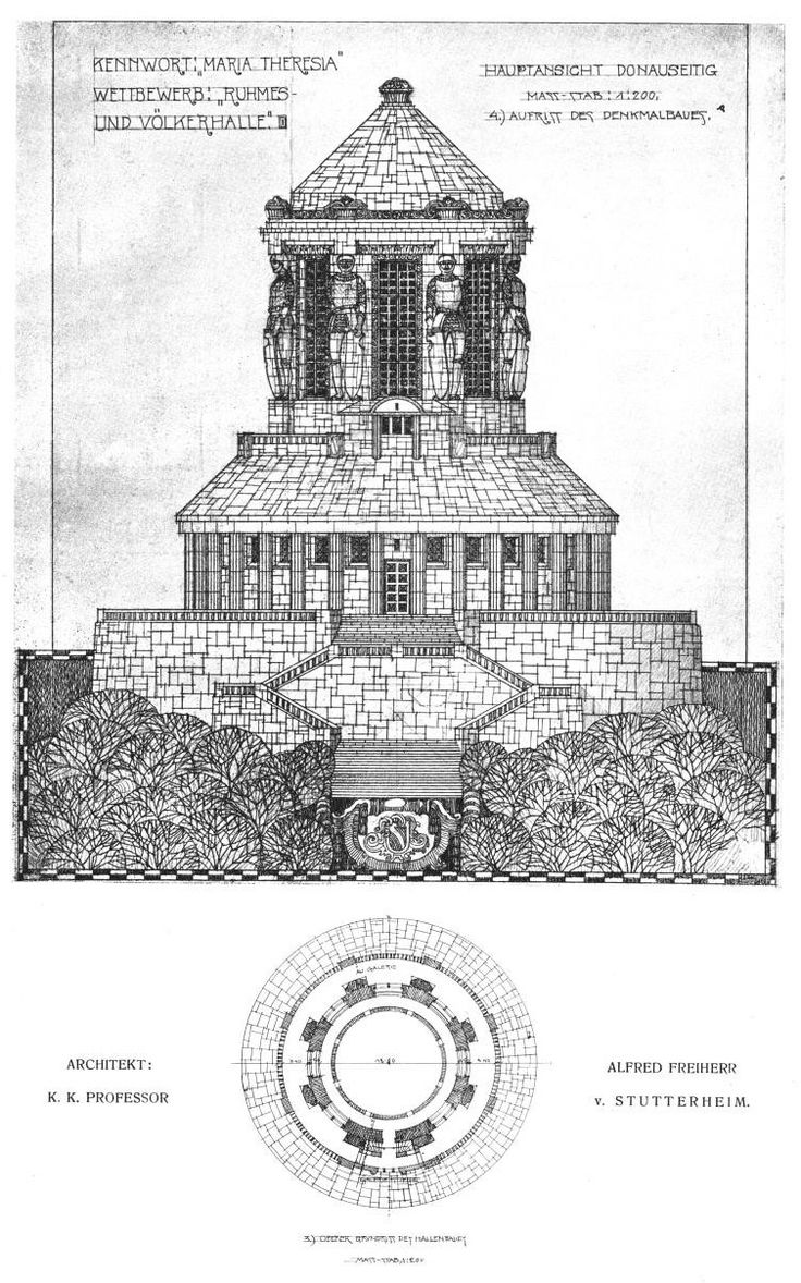 Design for a Ruhmeshalle on the Donau