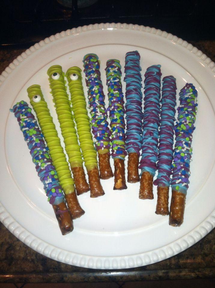 Monsters inc . Themed pretzels