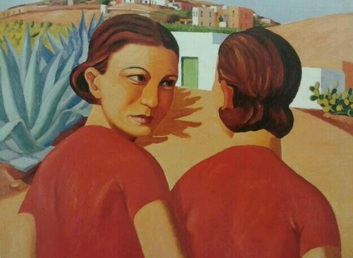 Jorge oramas - dos figuras, c.1932-35