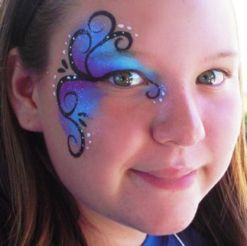 Blue Flair #facepainting #KCO