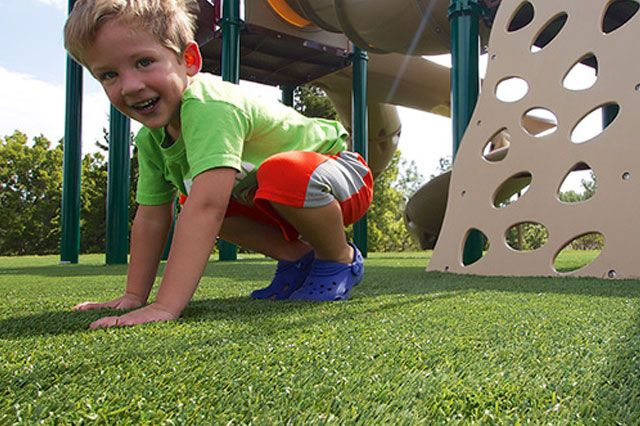 Artificial Grass is a great, safe and soft surface for children's play areas and nurseries
