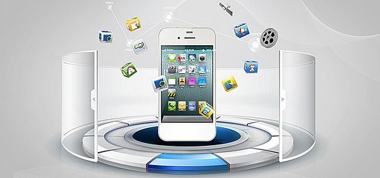 mobile internet technology background