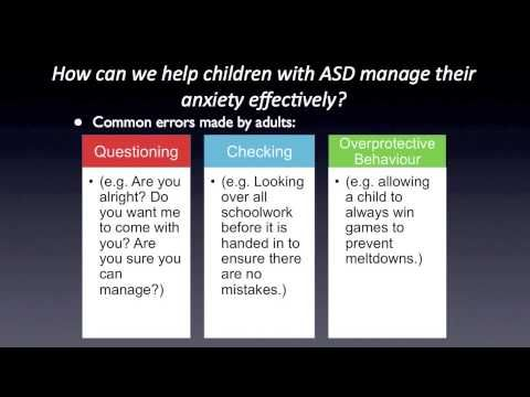 Anxiety and Autism Spectrum Disorders: Part 3