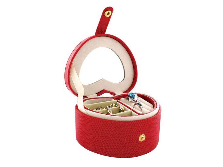 Kuferek na biżuterię w kolorze czerwonym | Apart