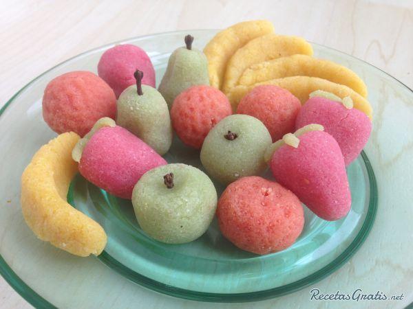 Frutas de mazapán #ComidaEspañola #CocinaEspañola #RecetasEspañolas #SpainFood