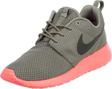 Nike Roshe Run schoenen grijs neon roze