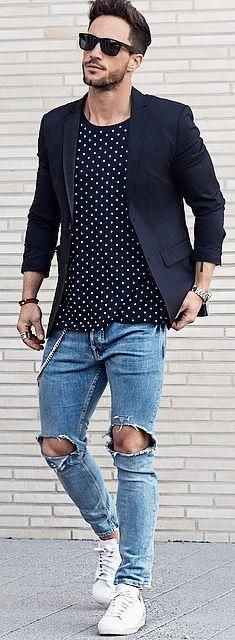 Trending men's street styles on Pinterest #mensfashion #streetstyles,