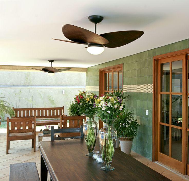 varanda com ventilador de teto