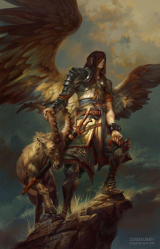 Vintage ArtStation Azazel Angel of Sacrifices Peter Mohrbacher Reference for Final Boss Azazel