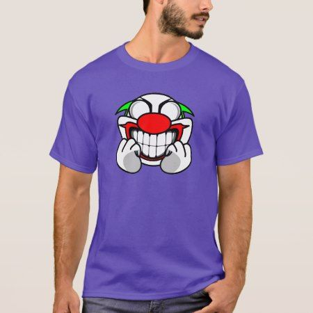 Smiling Clown(purple) T-Shirt - tap to personalize and get yours