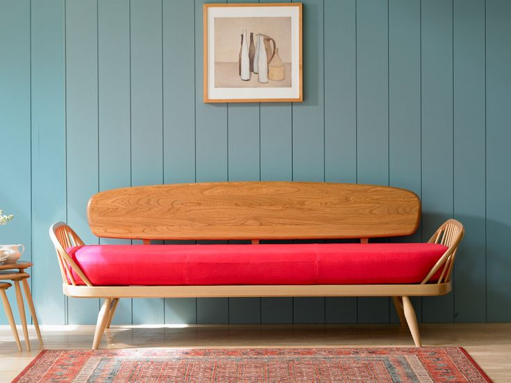 Ercol Studio Couch without Back Cushions. @Deidré Wallace