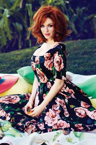 Christina Hendricks´s floral tea dress