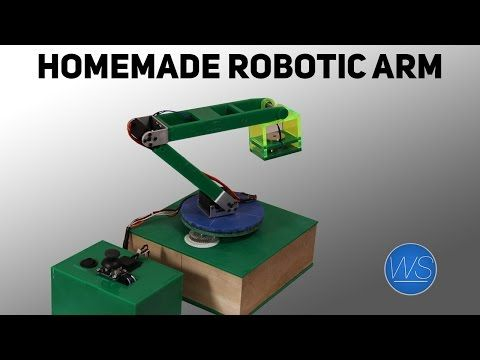 DIY Arduino robotic arm - YouTube