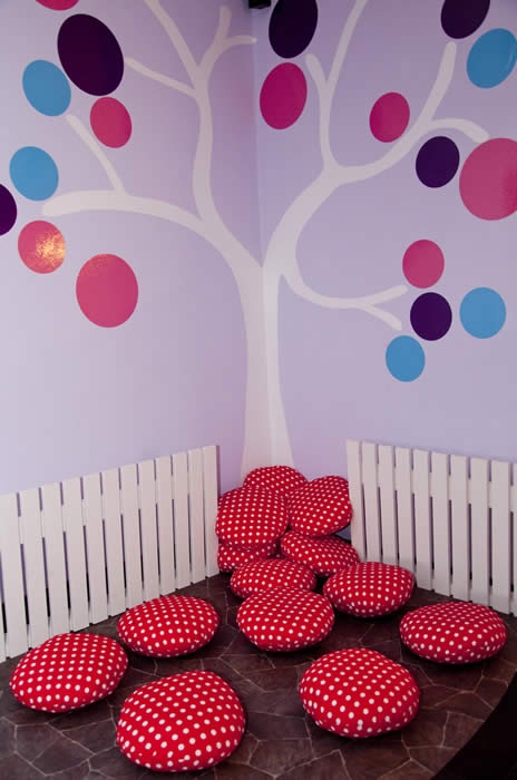 Cushions for the Reading Corner--so cute