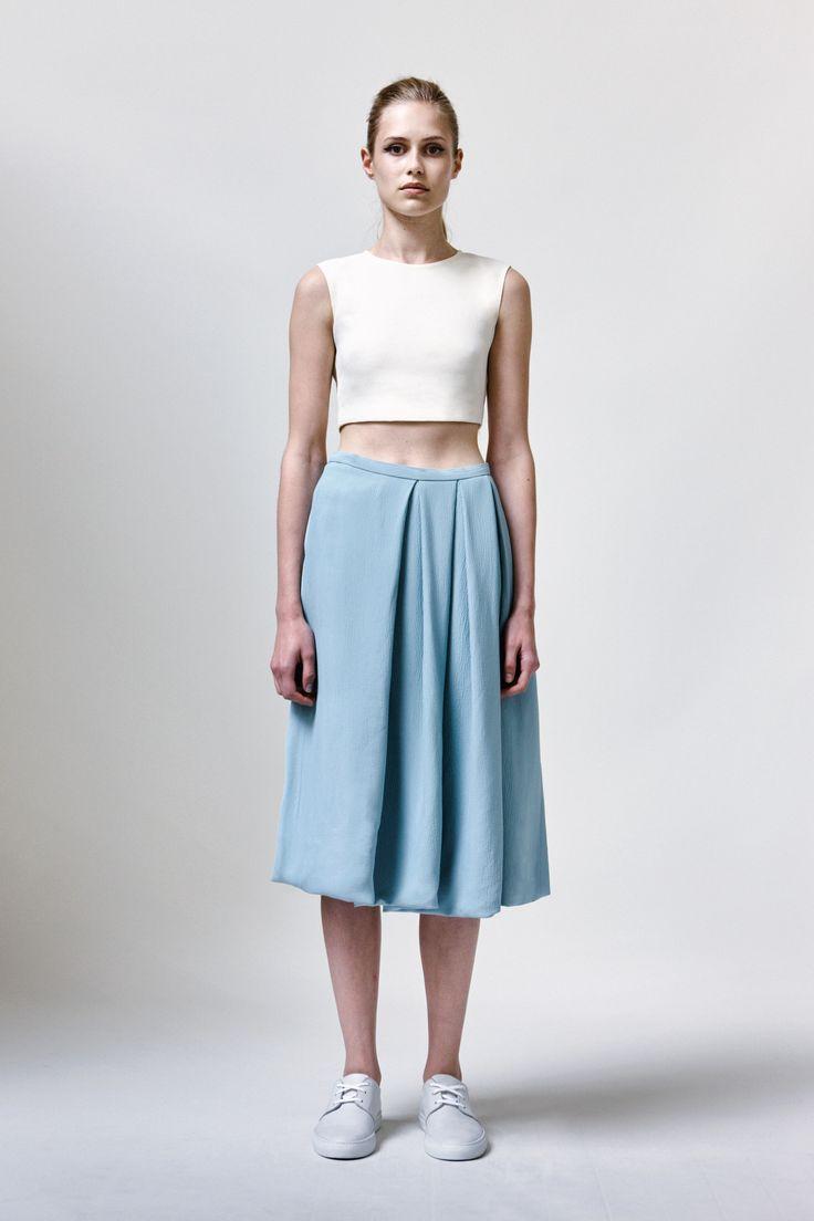 Pepita Top, Cloetta Skirt and Leather Sneakers | Samuji SS16 Classic Collection