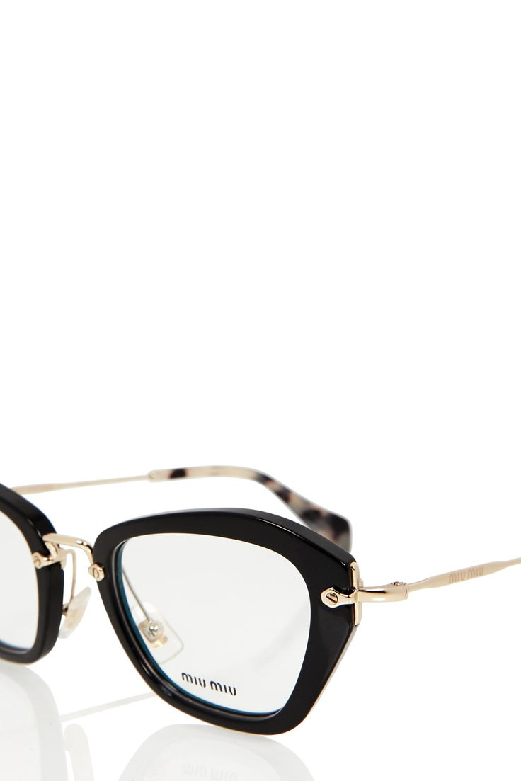 Noir Optical Glasses | MIU MIU | BLACK