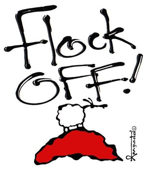 """Flock Off!"" by Ann Gadd"