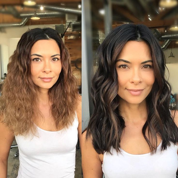 Black Hair with Chocolate Face-Framing Highlights
