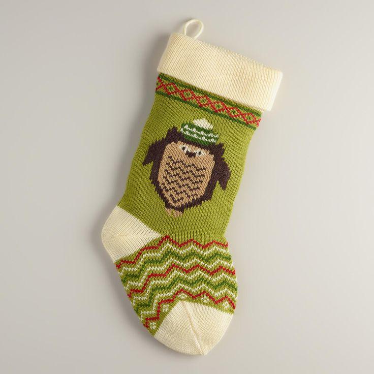 Holiday Owl Knit Stocking World Market Knit Stockings