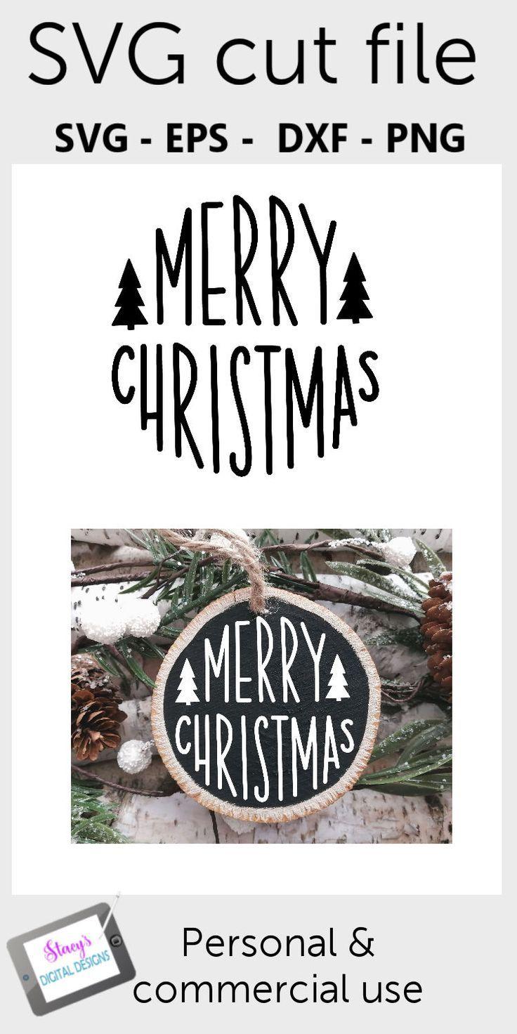 Christmas Ornament Svg Merry Christmas Round In 2020 Christmas Vinyl Christmas Svg Files Cricut Projects Vinyl