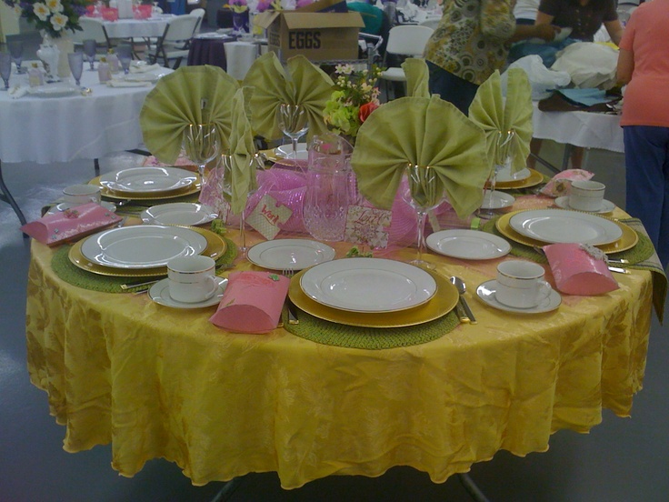 Decorated table for ladies luncheon
