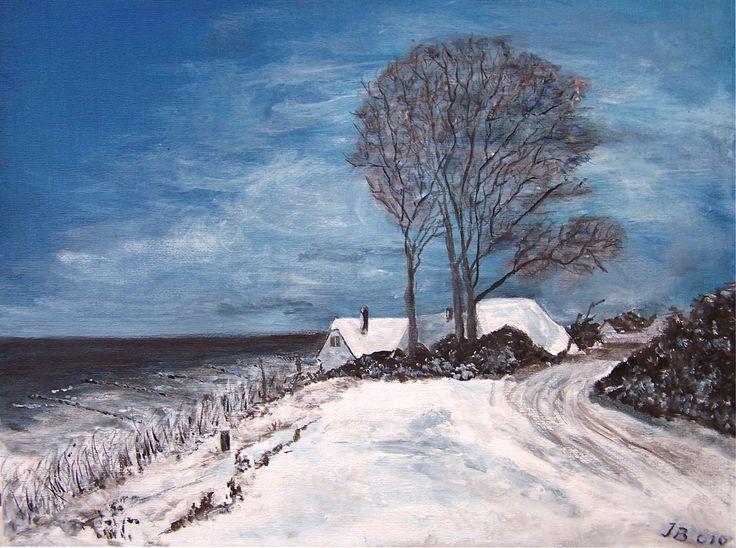 In Ahrenshoop ist auch der Winter schön #Ahrenshoop #Steilküste #gemalt