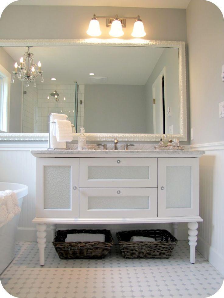 Bathroom White Carrera Marble Bathroom Vanity